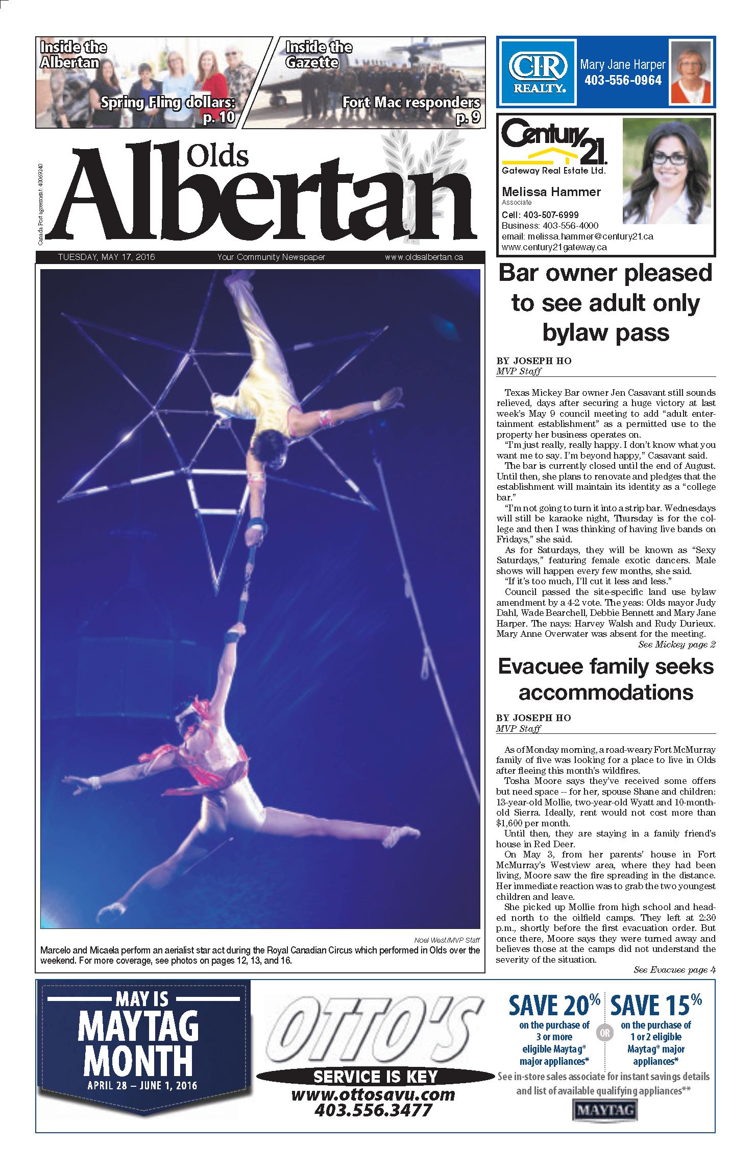 Olds Albertan Royal Canadian Circus 1